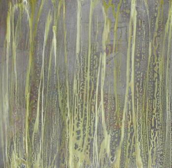 giallotrasparente 50x50 tecnica mista su tela